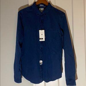 ✅ NWT DENIM & FLOWER Slim Fit Button Up Shirt NEW